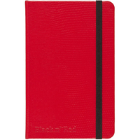 Black n Red Hardcover Business Journal, Casebound, 71 Sheets, A6, 5 12 x 3 12, Red
