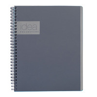 Oxford Idea Collective Professional Notebook Double WireO 9 12 X 6 58 Ruled 80 Sheets Gray