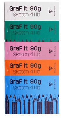 A modern collection of sketch pads with unbeatable prices, vibrant colors and unique covers.