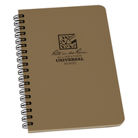 Rite in the Rain Weatherproof Side Spiral Notebook, 4.625 x 7, Tan Cover, Universal Pattern (973T)