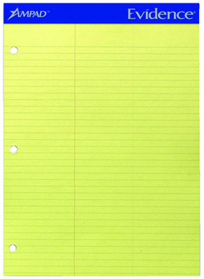 Stiff Back Dual Law Pad Canary 100 Sheets Letter Size 8 12 X 11 34 Micro Perforated