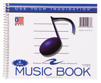 8 Stave Wirebound Music Notebook 24 Sheet 7 X 8 12