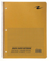 Scientific Wirebound Notebook 11 8 12 5 X 5 Quad Ruling 80 Sheets Green Paper Brown Kraft Cover