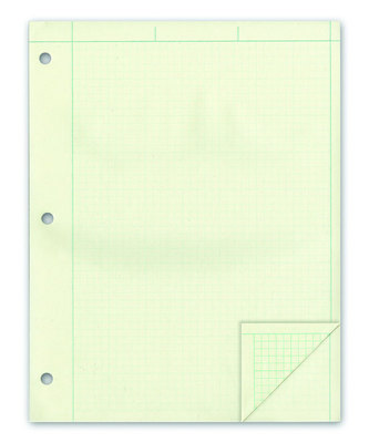 Ampad Computation Book 938 x 1134 Engineering Pad 5square  Green