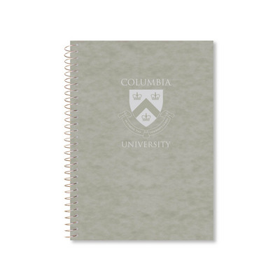 3 sub imprinted notebook.  9.5x6.5 college ruled, 120 sheets. Saranac cover, foil stamped. 3 pckts
