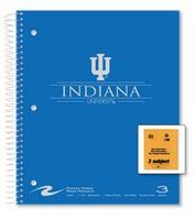 3 sub imprinted notebook.  11x9 college ruled, 120 sheets. Saranac cover, foil stamped. 1 pocket
