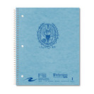 1 sub imprinted notebook.  11x9 Graph Ruled.  80 Sheets.  Cover with builtin pckt, foil stamped