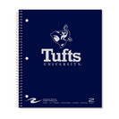 3 sub imprinted notebook.  11x9 college ruled, 120 sheets. Saranac cover, foil stamped. 3 pckts