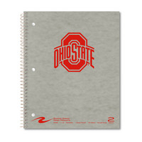 2 sub imprinted notebook.  11x9 college ruled,100 sheets. Pressboard cover, foil stamped. 1 pocket