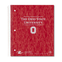 4 sub imprinted notebook. 11x9 college ruled,200 sheets. Pressboard cover, foil stamped. 4 pockets