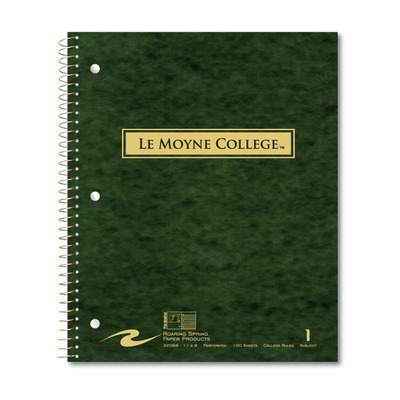 le moyne college bookstore 1 sub imprinted notebook 11x9 college