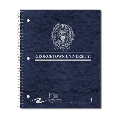 1 Subject 11x9 Imprinted Notebook 100 Perforated Sheets College Ruled with Margin 15lb White Paper