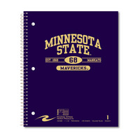 1 sub imprinted notebook.  11x9 College Ruled, perfed.  Cover with builtin pocket, foil stamped