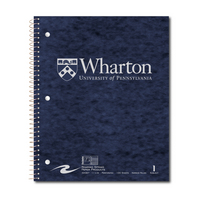 1 sub imprinted notebook.  11x9 Narrow Ruled, perfed.  Cover with builtin pocket, foil stamped