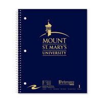Imprinted College Ruled 1 Subject Stasher Notebook with 20lb. Heavyweight Paper, 11 x 9, 80 Sheets
