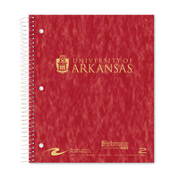 Imprinted College Ruled 2 Subject Notebook, Heavyweight Paper, 2 Double Pockets, 11 x 9, 100 Sheets