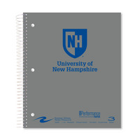 Imprinted College Ruled 3 Subject Notebook, Heavyweight Paper, 3 Double Pockets, 11 x 9, 120 Sheets