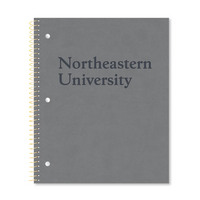 Leather  look College Ruled 1 Subject Notebook with Heavyweight Paper & Gold Wire, 11 x 9, 80 Sheets