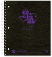 Imprinted 5 Sub Wiebound Notebook 11 x 9 Pressboard Cover