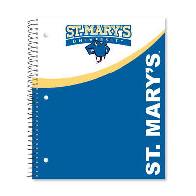 3 sub imprinted notebook.  11 x 9 College Ruled 120 sheets.  Digi Top Split Cover Design
