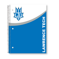 1 sub imprinted notebook.  11 x 8.5 College Ruled 70 sheets.  Digi Retro Cover Design