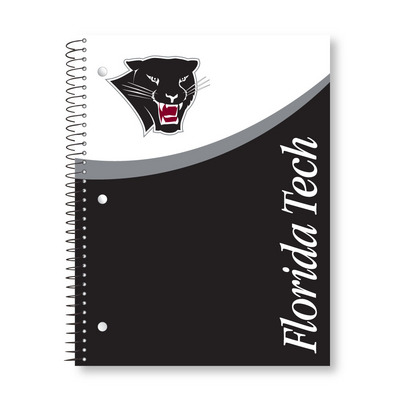Imprinted 1Sub Wirebound Notebook, 11 x 8.5, Digi Top Split Design Cover