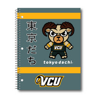 Imprinted 1Sub Wirebound Notebook, 11 x 8.5, Tokyodachi Bands Design Cover