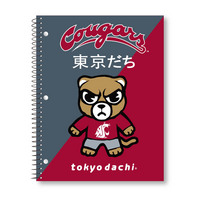 Imprinted 1Sub Wirebound Notebook, 11 x 8.5, Tokyodachi Diagonal Design Cover