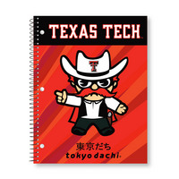 Imprinted 1Sub Wirebound Notebook, 11 x 8.5, Tokyodachi Beams Design Cover