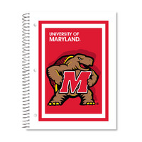 Imprinted 1Sub Wirebound Notebook, 11 x 8.5, Digi Mascot Design Cover