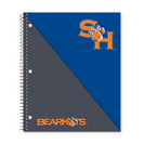 Imprinted 1Sub Wirebound Notebook, 11 x 9, Brilliance Divide Design Cover