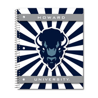 Imprinted 1Sub Wirebound Notebook, 11 x 9, Brilliance Stripes Design Cover