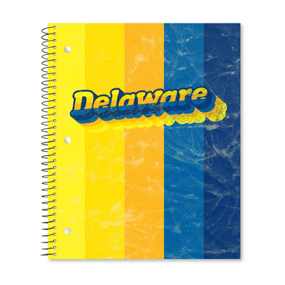 College Ruled 3 Subject Notebook with Double Pocket, 11 x 9, 120 Sheets