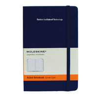 Moleskine Pocket Notebook with Foil Stamped School Name, Ruled