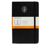 Moleskine Large Notebook with Foil Stamped Seal, Ruled