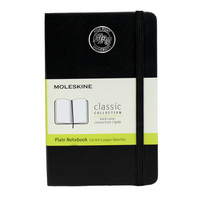 Moleskine Pocket Notebook with Foil Stamped Seal, Unruled