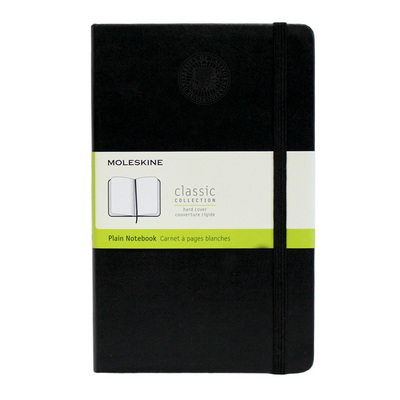 Moleskine Large Notebook with Debossed Seal, Unruled