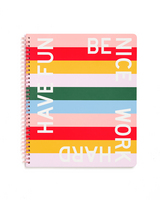 BANDO ROUGH DRAFT LARGE NOTEBOOK, HAVE FUN BE NICE