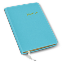 Gallery Leather Bright Turquoise Fauxleather Journal 6 x 8
