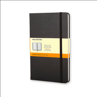 Moleskine Classic Notebook, Pocket, Ruled, Black, Hard Cover