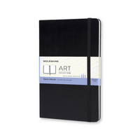 Moleskine Art Sketchbook, Pocket, Plain, Black, Hard Cover