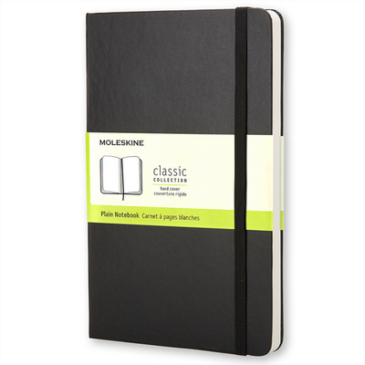 Moleskine Classic Notebook, XL, Plain, Black, Hard Cover