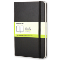 Moleskine Classic Notebook, Pocket, Plain, Black, Hard Cover