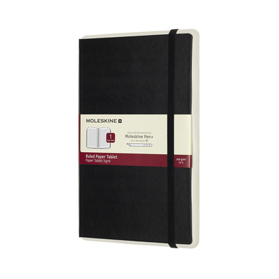 Moleskine Paper Tablet, Smart Notebook, Large, Ruled, Black, Hard Cover