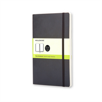 Moleskine Classic Notebook, XL, Plain, Black, Soft Cover