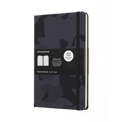 Moleskine Nomad Blend Collection, Camouflage Black, Large with Ruled pages