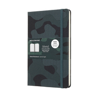 Moleskine Nomad Blend Collection, Camouflage Green, Large with Ruled pages