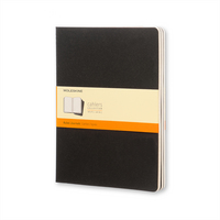 Moleskine Cahier Journal (Set of 3), Pocket, Ruled, Indigo Blue, Soft Cover