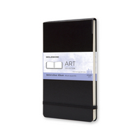 Moleskine Classic Large Watercolor Notebook, Black