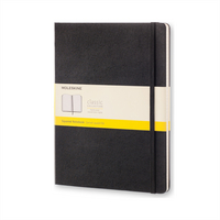 Moleskine Classic Notebook, XL, Squared, Black, Hard Cover